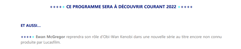 Disney Plus France Serie Obi-Wan Kenobi