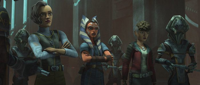 Ahsoka e le sorelle in The Clone Wars