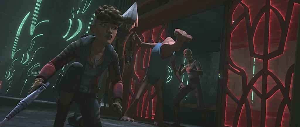 Il tentativo di fuga di Rafa nel settimo episodio di The Clone Wars