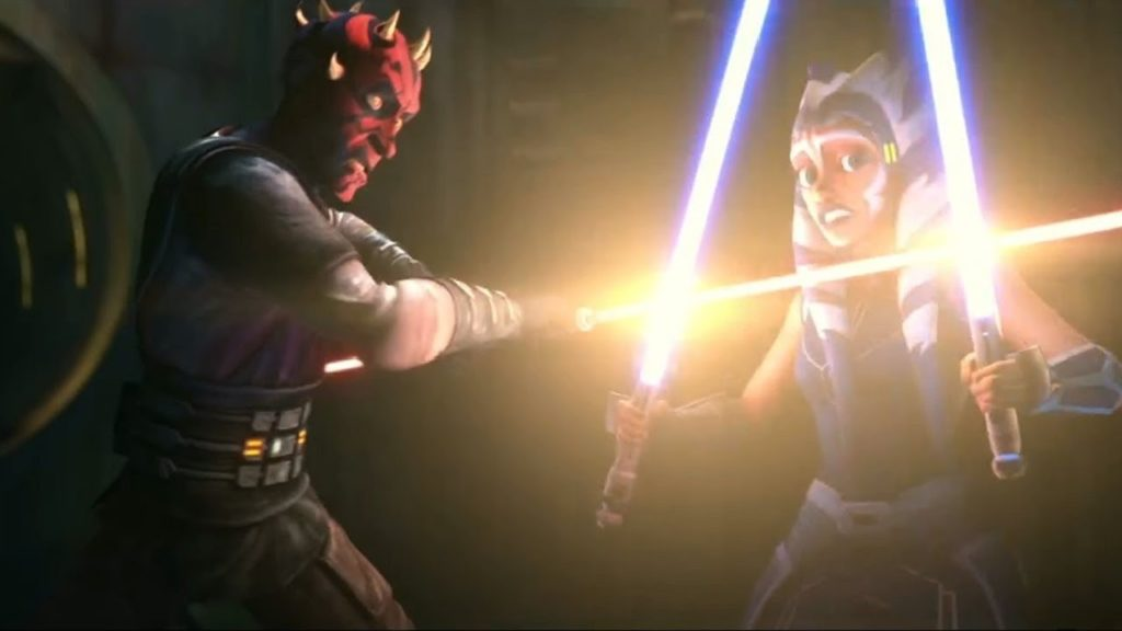 Il duello tra Ahsoka e Maul in The Clone Wars