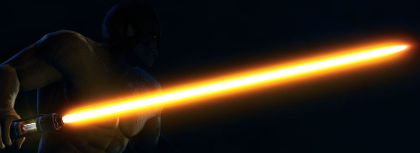 orange lightsaber