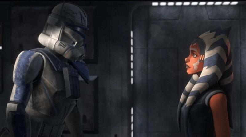Ahsoka e Rex nell'ultima puntata di The Clone Wars.