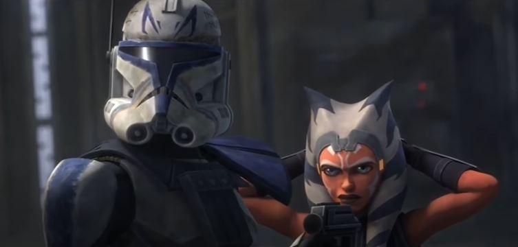 ahsoka e rex in the clone wars