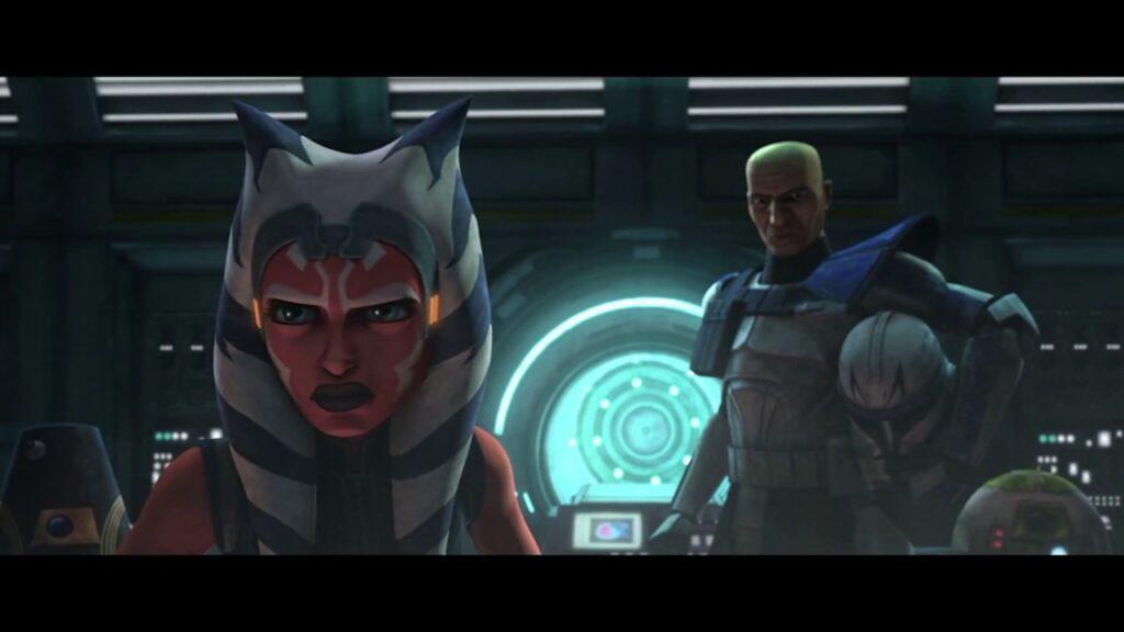 Ahsoka nell'ultima puntata di The Clone Wars