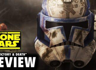 L'elmo di uno stormtrooper nel finale di The Clone Wars