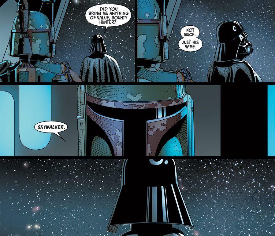 Boba Fett rivela a Vader l'identità di luke