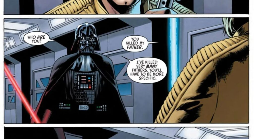 vader e luke fumetti star wars