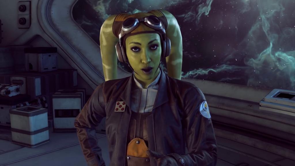 Hera nel trailer di star wars squadrons