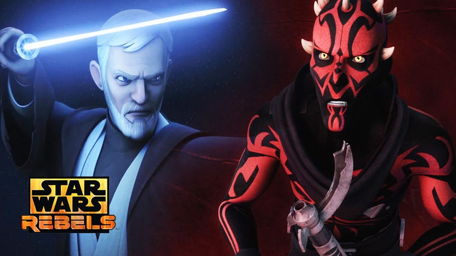 Darth Maul e Obi-Wan Kenobi in Rebels