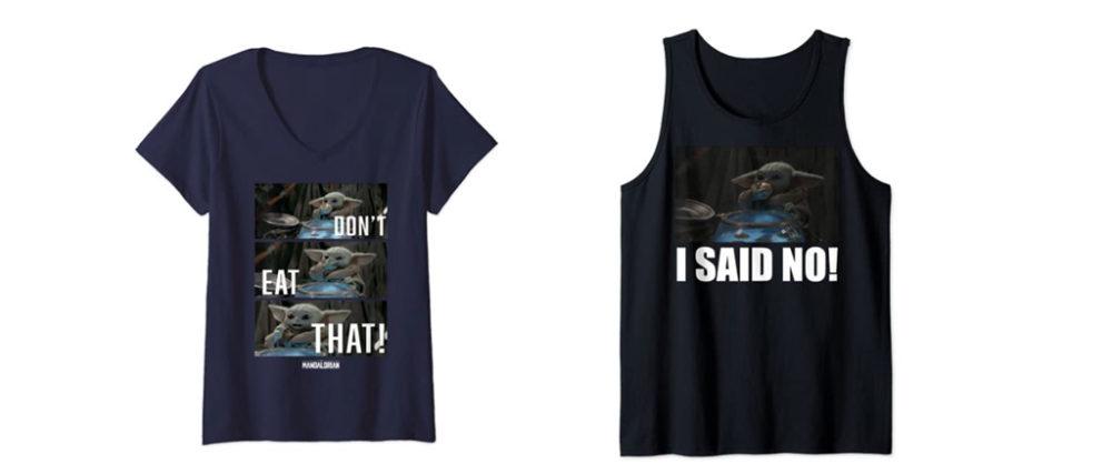 t-shirt baby yoda mando mondays