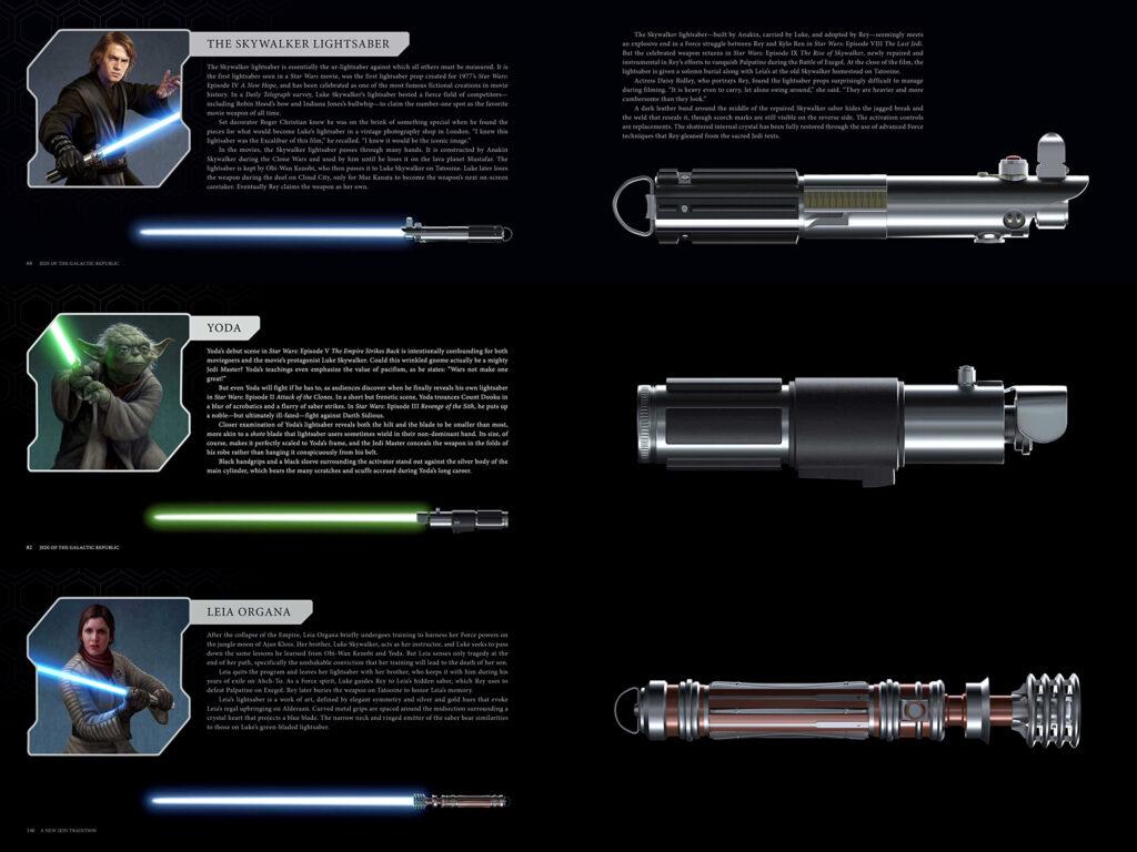 lightsaber collection spade laser leia yoda anakin skywalker