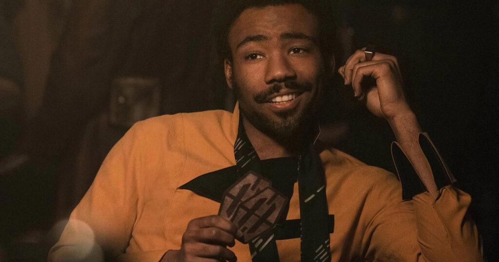 Donald Glover, interprete di Lando in Solo