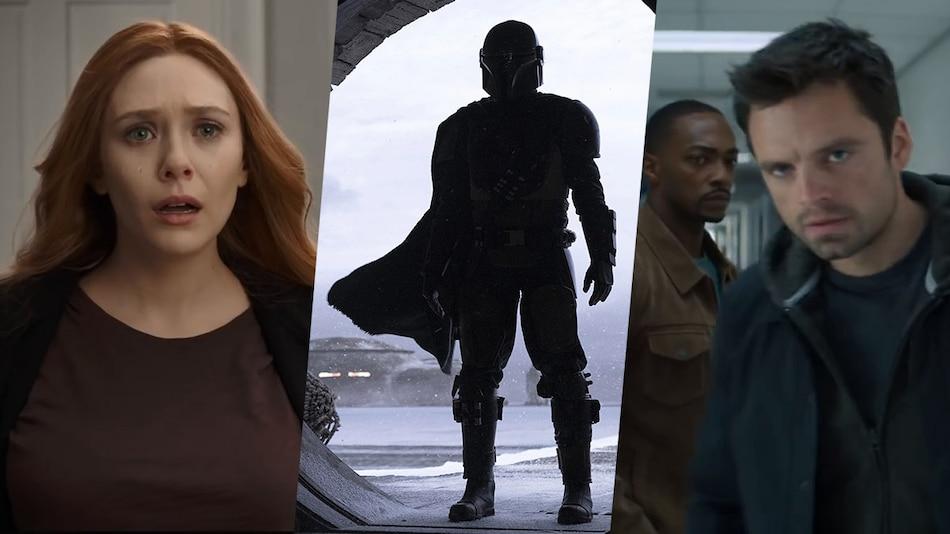 The Mandalorian. WandaVision, Falcon and the Winter Soldier