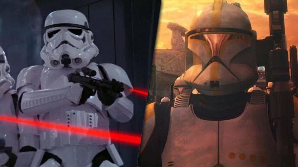cloni e soldati in star wars
